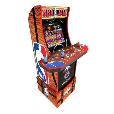 NBA Jam Wi-Fi Enabled Arcade Cabinet with Riser and Stool Preorder Supplies Lmtd