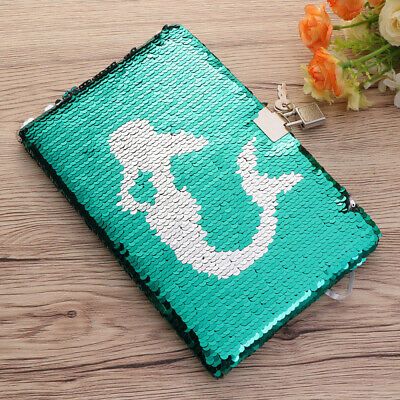 1 PC Sequin Journal Notebook Creative Planner Personal Diary Organizer with Lock