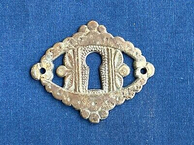 Antique Vintage Brass Key Hole Escutcheon Cover Furniture Drawer Hardware