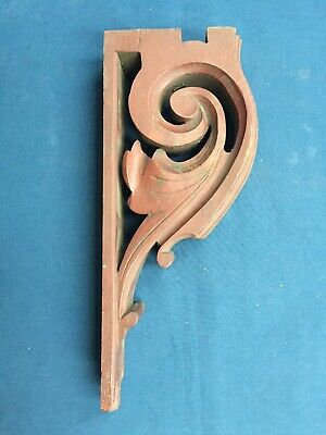 Single Antique Victorian Carved Walnut Wood Corbel Bracket Architectural Salvage