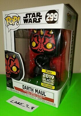 Funko Pop! Star Wars Darth Maul 2019 Galactic Convention Exclusive #299 NIB