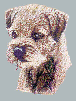 BORDER TERRIER  Dog Breed Bathroom SET OF 2 HAND TOWELS EMBROIDERED