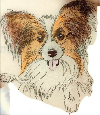 Papillon Dog Bathroom Hand Towel Set Embroidered Personalized