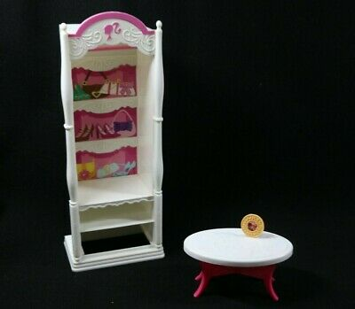 Barbie Pink World 3 Story Dream Townhouse Clothes Wardrobe COFFEE TABLE 2009 LOT
