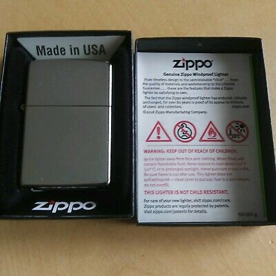 Zippo Lighter Street Chrome Windproof  Made In Usa #207 New In Box