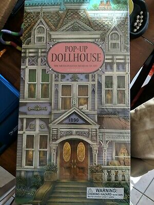 NEW Metropolitan Museum of Art Pop Up Dollhouse Book Three-Dimensional Victorian