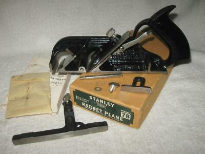 Vintage Stanley No. 78 Rabbet Plane - Complete with Fence, Depth Stop, Spur, Box