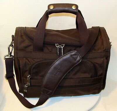 Tumi Travel Brown Weekender Carry On Bag    Cb
