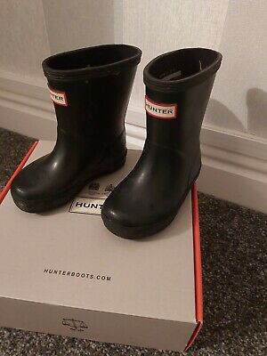 Hunter Infant Size 5 Gloss Black Wellies