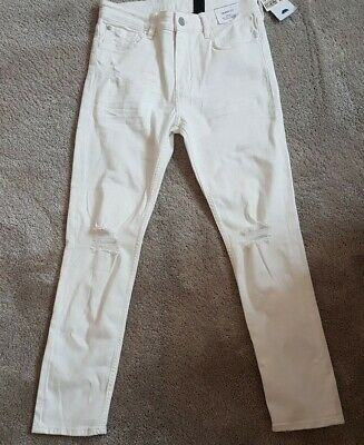 H & M Boys Skinny Fit White Denim Jeans Age 12/13 Years