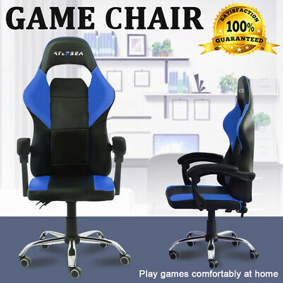 Gaming Chair Office Computer PU Leather Chairs Racer Executive Racing Seat AU
