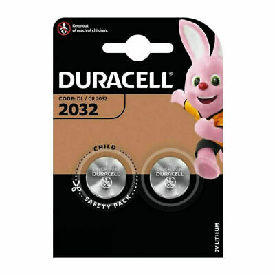 2 x Duracell CR2032 Batteries Lithium Battery 3V Button/Coin Cell CR 2032 DL2032