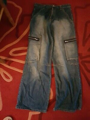 Trendy Boys Baggy Jeans Age 14 .waist Approx 29 Height 164cm