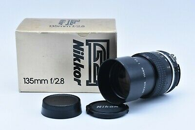 [EXC+++++ in BOX] NIKON Ai Nikkor 135mm f/2.8 AI MF Telephoto Lens FROM JAPAN