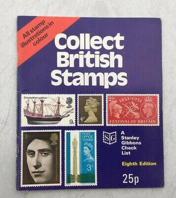 Vintage Booklet - Collect British Stamps - A Stanley Gibbons Check List - 8Th Ed