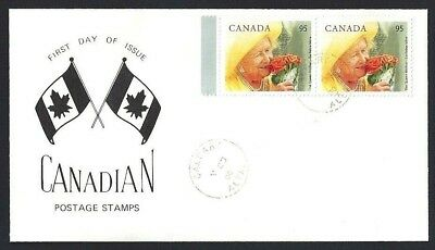Canada  # 1856 Pair  Special Cachet - The Queens Mother   New 2000 Unaddressed