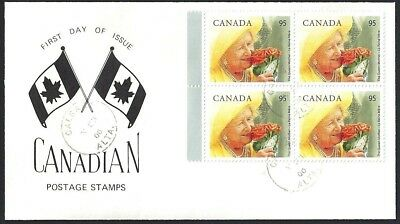 Canada  # 1856 Block  Special Cachet - The Queens Mother   New 2000 Unaddressed