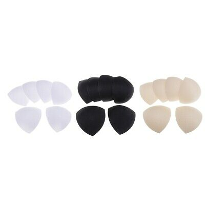 9 Pairs Bra Pads Insert Soft Cup Removable for Swimsuits Uneven Breasts