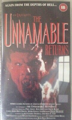 VHS Video - The Unnamable Returns  - Horror