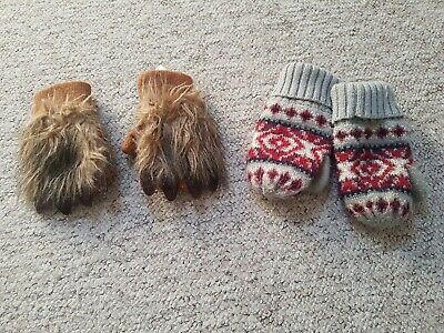Boys Mittens From Gap. Size Small And Medium