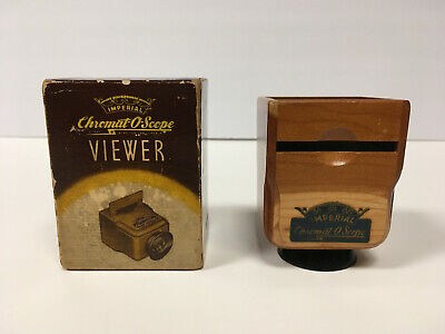 Vintage Imperial Chromat-O-Scope Deluxe Wood Viewer