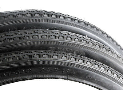 Pair 26 x 1 3//4 S7 Cruiser Tires and Tubes Bike Bicycle Tire Black Kenda K75