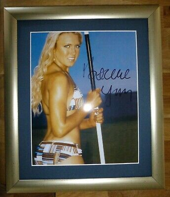 NATALIE GULBIS-A Superb Hand Signed Photo,Mounted & Matted-RARE & COA Too