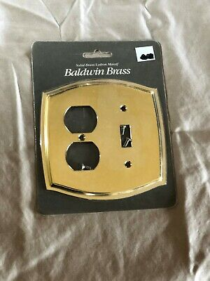 One (1) New Baldwin Brass Duplex and Toggle Colonial Plate Cover 4767-030-CD