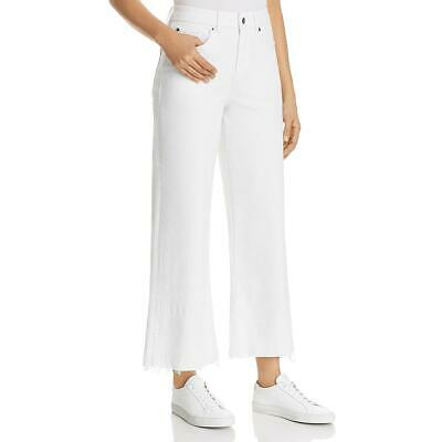 1.State Womens White Denim Mid-Rise Cropped Wide Leg Jeans 27 BHFO 8751