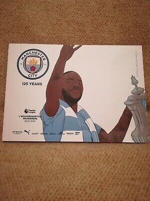 Manchester City MCFC  V Wolverhampton Wanderers Wolves Match Day Programme...