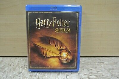 8-Movie Harry Potter Blu-Ray Collection Box Set Complete Hogwarts ✔☆Mint☆✔ Rare