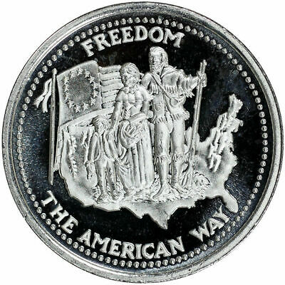 Lot of 7 1985 Johnson Matthey American Freedom Series 1 oz Fine Silver Rounds