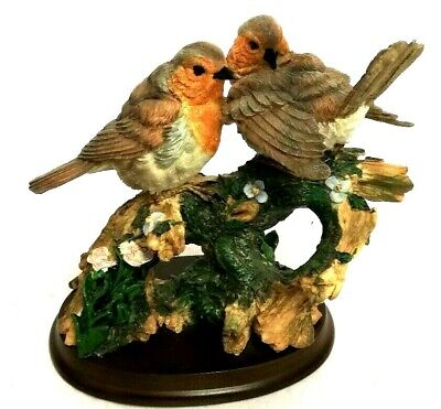 Leonardo Collection 2 Robins Tree Robin  Ornament Figurine Christmas