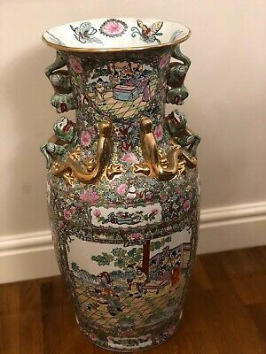 2 x Chinese Decorative Handpainted Vases