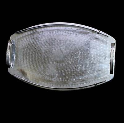 Vintage Ranleigh machine age etched oval gallery tray with handles