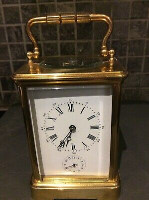 Antique French 8 Day Carriage Clock With Alarm