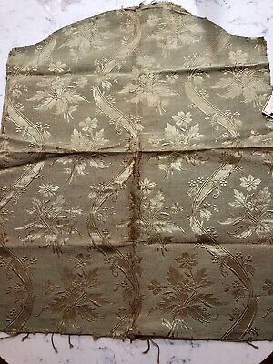 Antique Silk Upholstery Damask Brocade Lampas 19th Century French