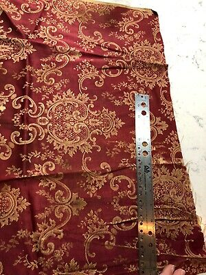 Antique Silk Damask 18th 19th century brocade French