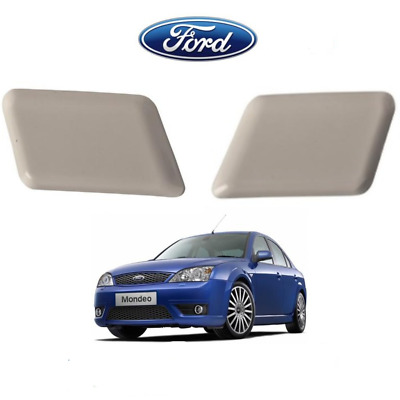 Ford Mondeo Mk3 Headlamp Light Washer Jet Cap Covers Set Right And Left