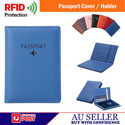 New Passport Cover / Holder, RFID Blocking PU Leather Case Wallet card Organizer