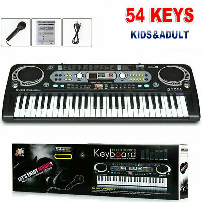 Musical Keyboard Piano 54keys Electronic Electric Digital Beginner Adult Gift TR