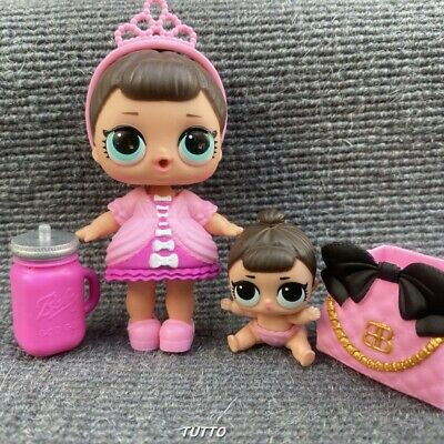 LOL Surprise Fancy Doll & Lil Fancy Sis Set Opposites Club Series 1 Girl Toy