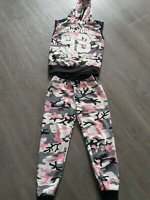Girls New York Brooklyn Active Wear Age 13 Years top & Bottoms.