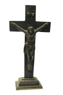Rare Vintage Antique Brass Jesus in Cross> Crucifixes christianity