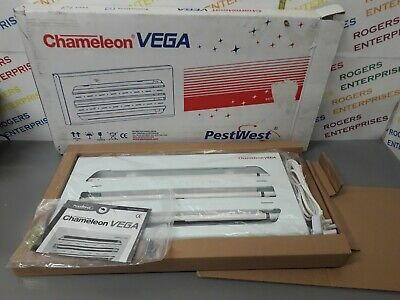 Pestwest Chameleon Vega Slimline Electric Fly Killer White NEW