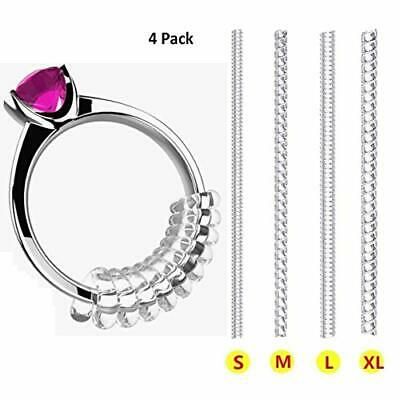 Yeasing Ring Size Adjuster Invisible Transparent Silicone Guard Clip Snug for#67
