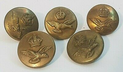 WW2 KINGS CROWN ROYAL AIR FORCE BLACK COMPOSITE TUNIC BUTTON APPROX 22MM.