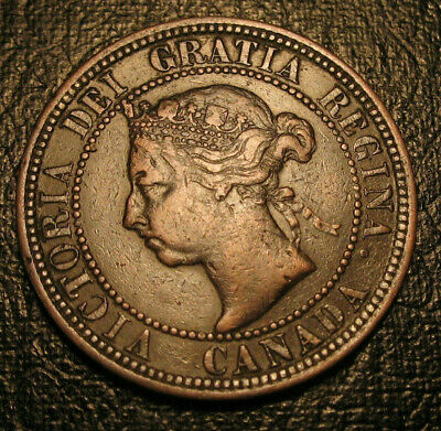 Old Canadian Coins 1890 H Canada  HIgrade Large Cent