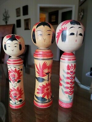 Kokeshi japanese traditional crafts JAPAN rare vintage beautiful
