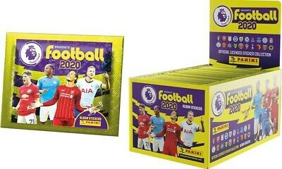 New Sealed Full Box Panini's Football 2020 Premier League Stickers 100 Packs
